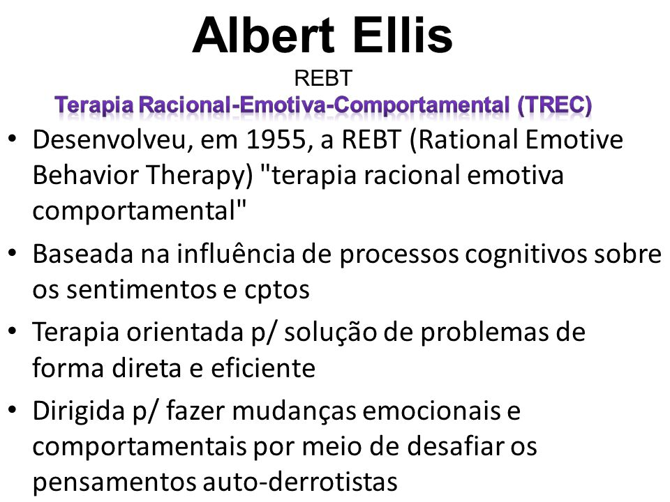 Terapia Racional-Emotiva-Comportamental (TREC)