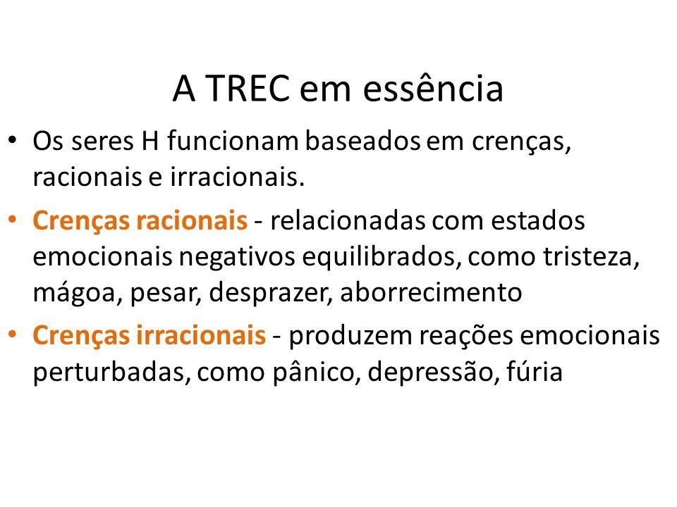 A TREC em essência Os seres H funcionam baseados em crenças, racionais e irracionais.