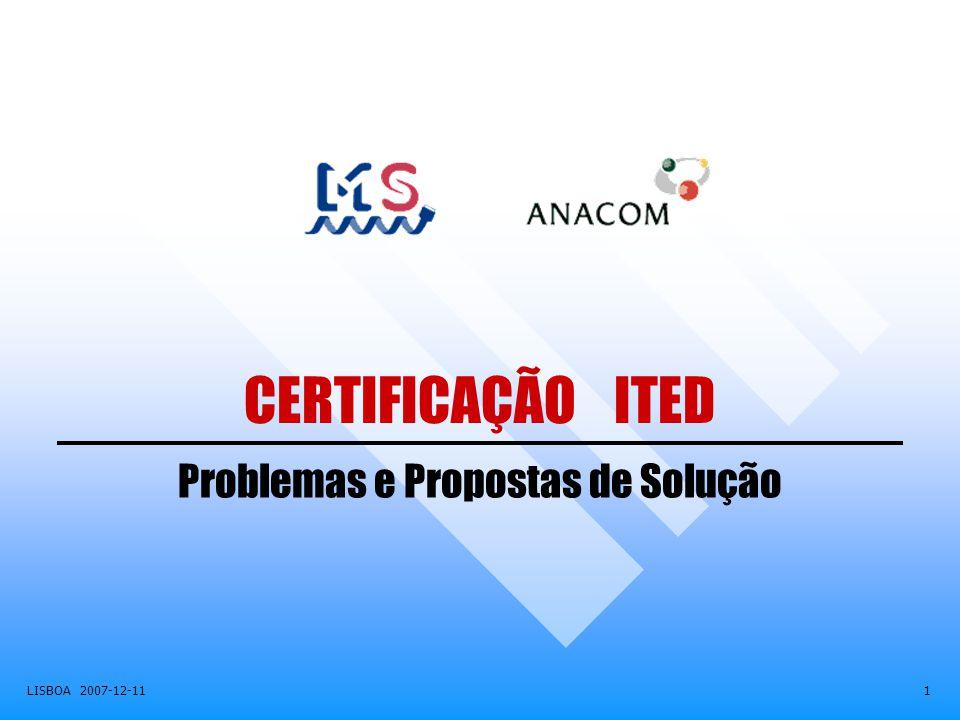 Problemas e Propostas de Solução