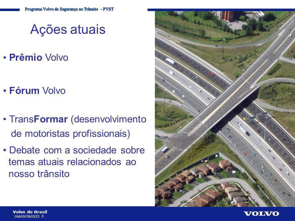 Ações atuais Prêmio Volvo Fórum Volvo TransFormar (desenvolvimento