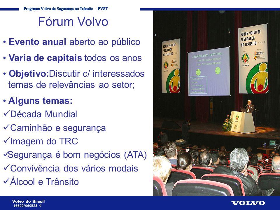 Fórum Volvo Evento anual aberto ao público