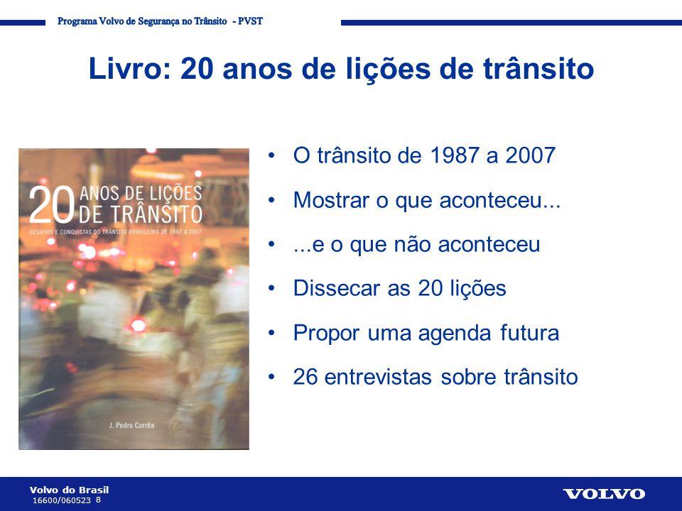 Livro: 20 anos de lições de trânsito