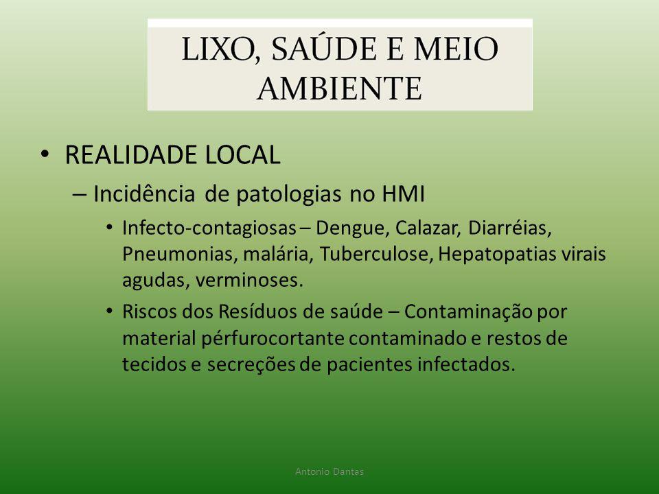 REALIDADE LOCAL Incidência de patologias no HMI