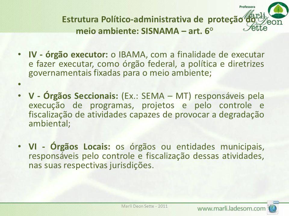Estrutura Político-administrativa de proteção do meio ambiente: SISNAMA – art. 6°