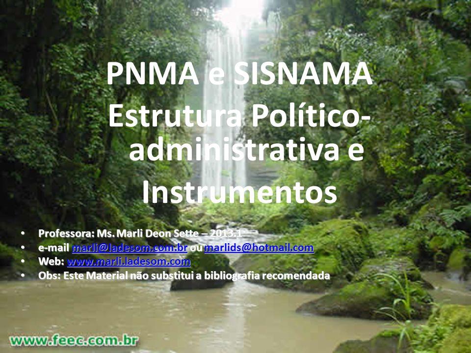 Estrutura Político-administrativa e
