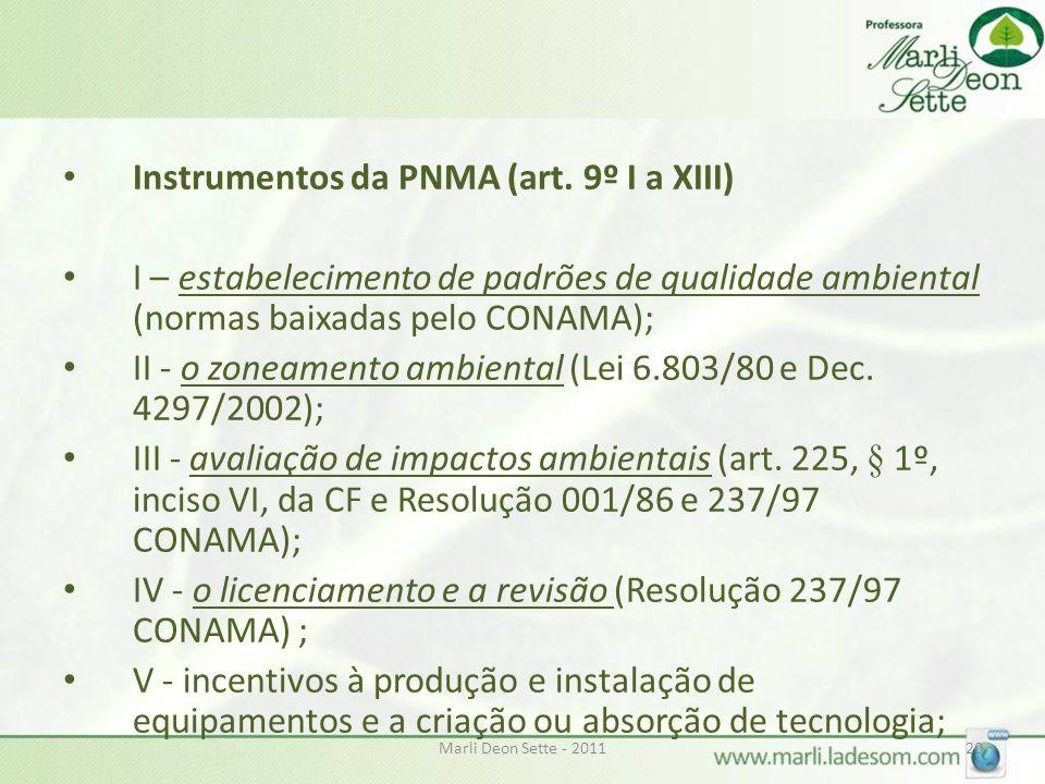 Instrumentos da PNMA (art. 9º I a XIII)