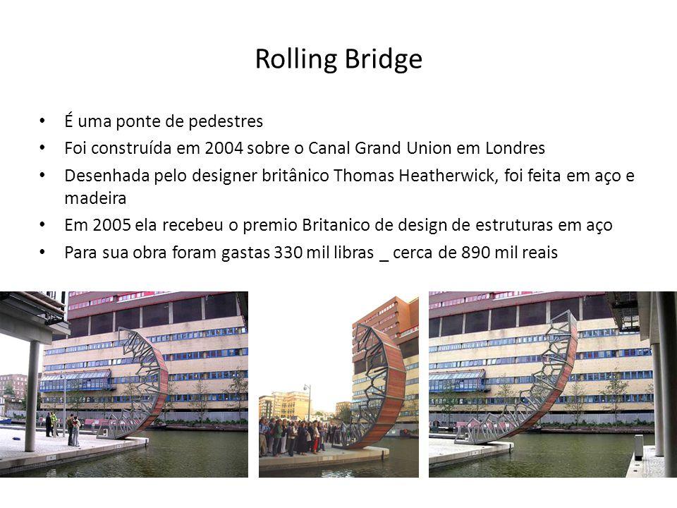 Rolling Bridge É uma ponte de pedestres
