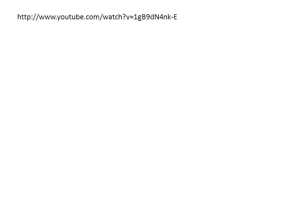 http://www.youtube.com/watch v=1gB9dN4nk-E