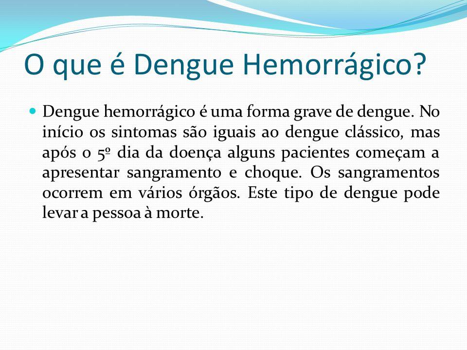 O que é Dengue Hemorrágico