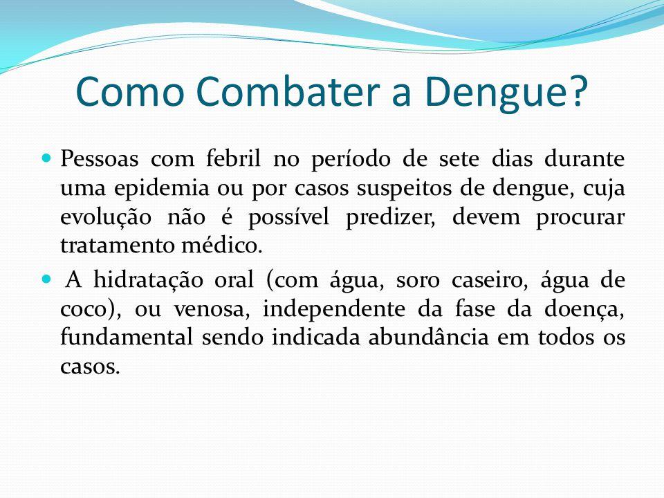 Como Combater a Dengue