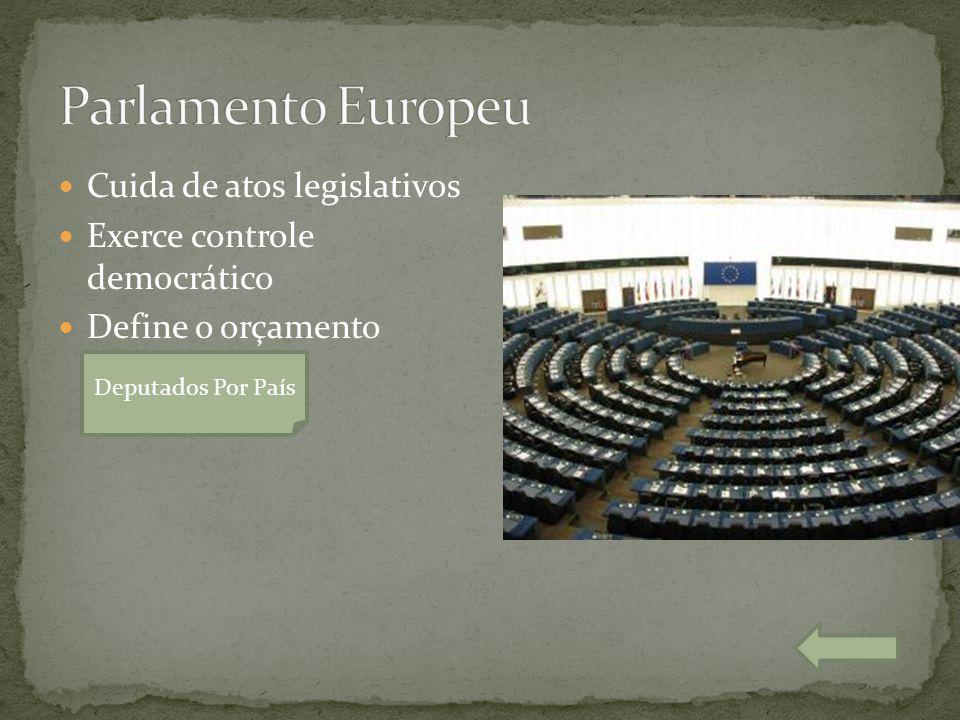 Parlamento Europeu Cuida de atos legislativos