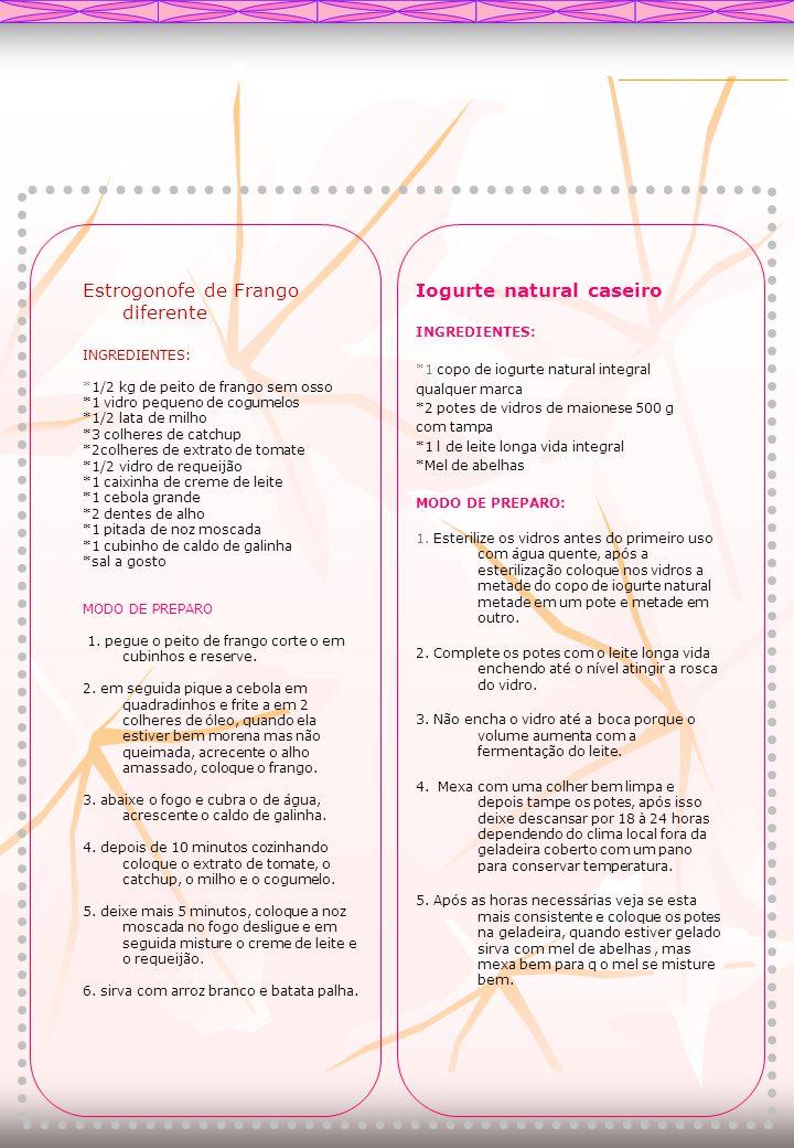 Estrogonofe de Frango diferente Iogurte natural caseiro