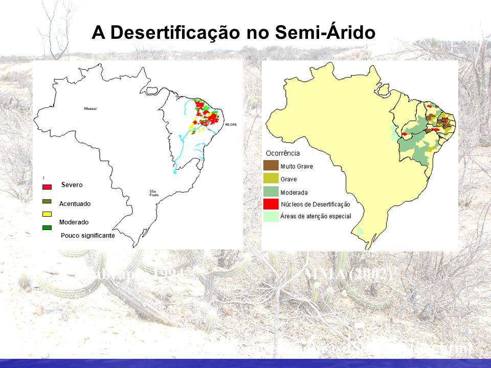 A Desertificação no Semi-Árido