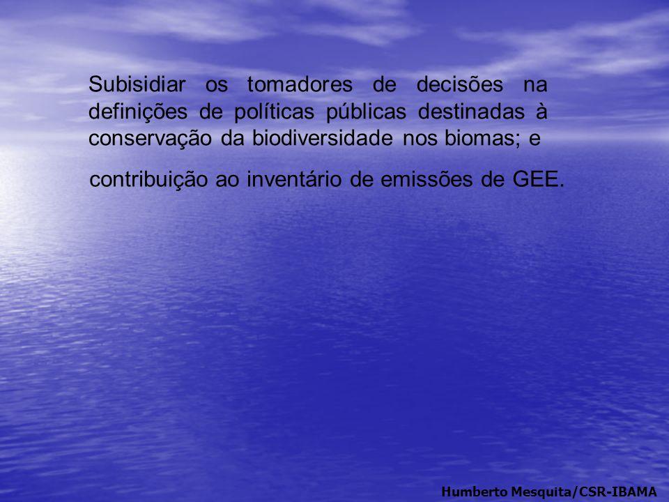 contribuição ao inventário de emissões de GEE.