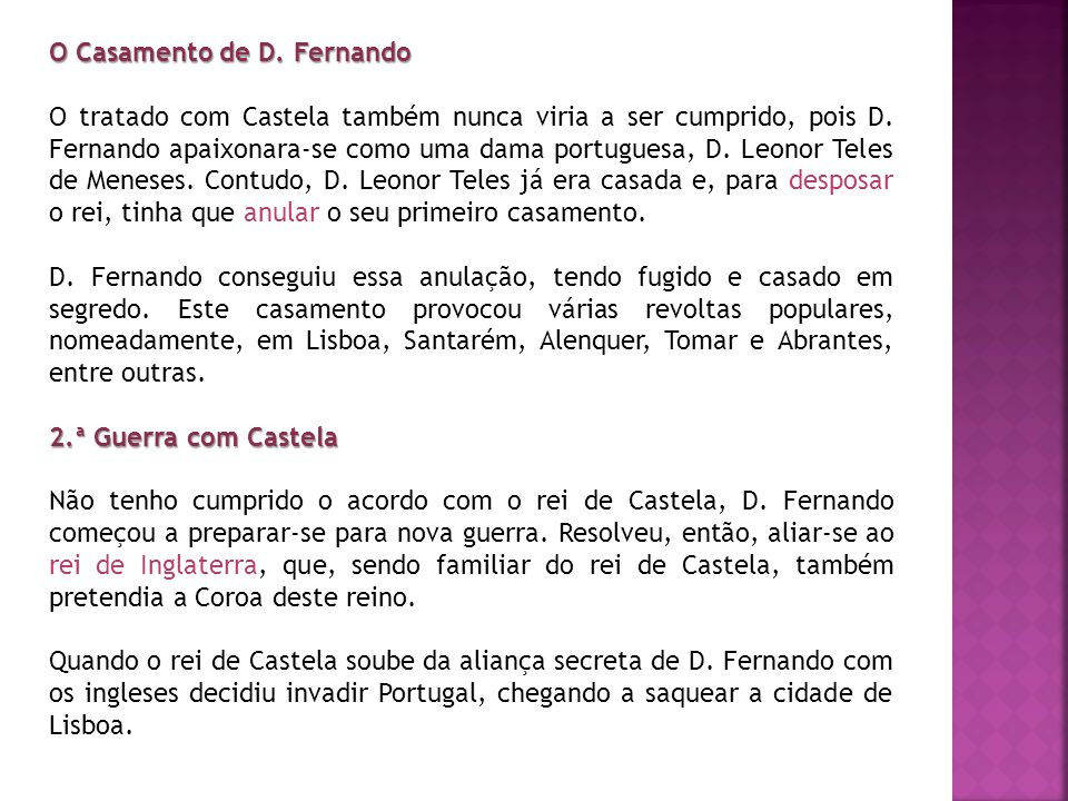 O Casamento de D. Fernando