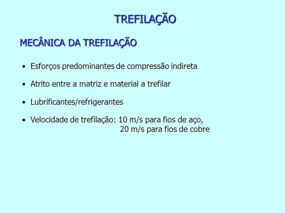 TREFILAÇÃO MECÂNICA DA TREFILAÇÃO