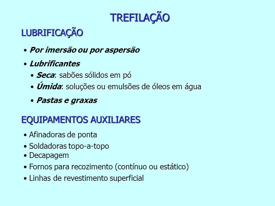 TREFILAÇÃO LUBRIFICAÇÃO EQUIPAMENTOS AUXILIARES