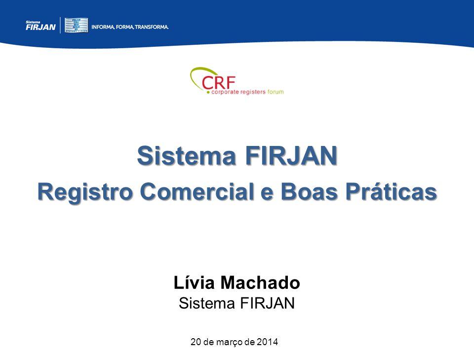 Sistema FIRJAN Registro Comercial e Boas Práticas