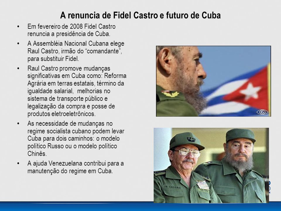 A renuncia de Fidel Castro e futuro de Cuba