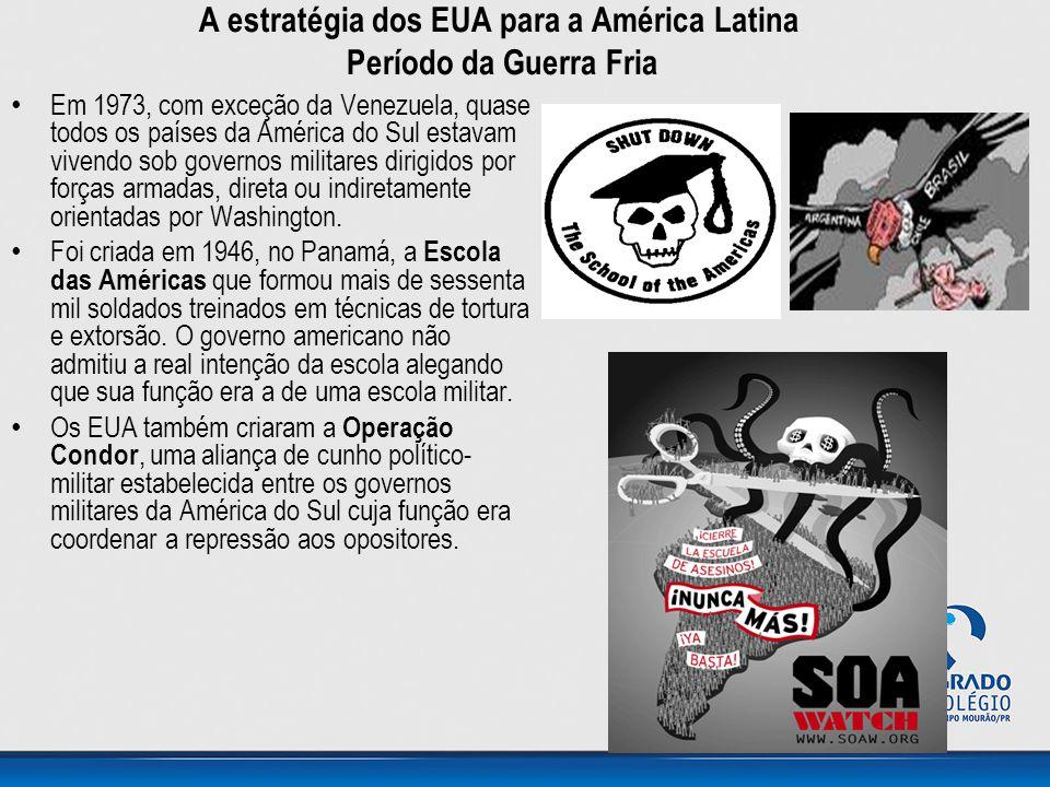 A estratégia dos EUA para a América Latina Período da Guerra Fria