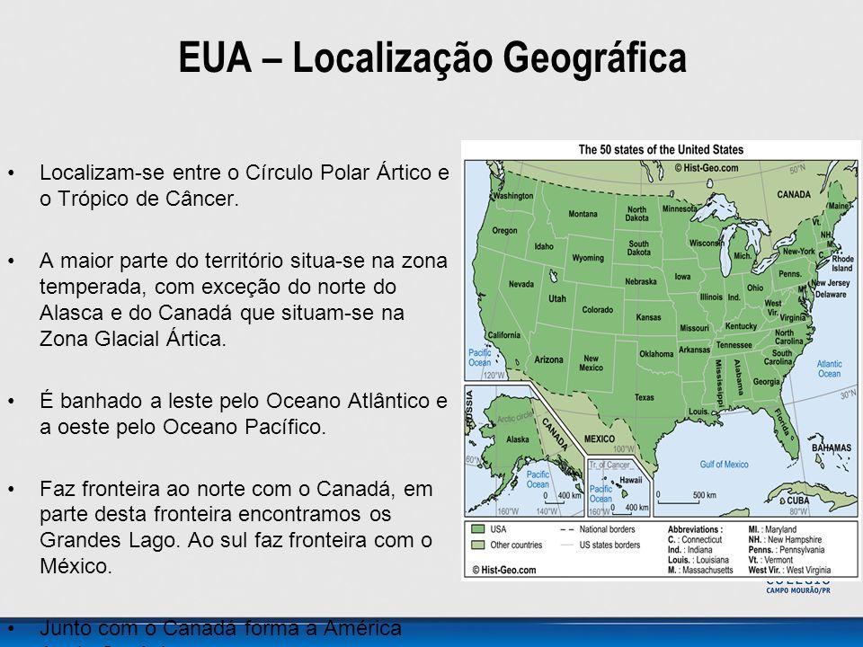 EUA – Localização Geográfica