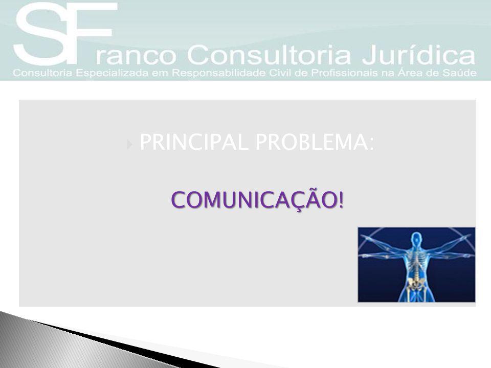PRINCIPAL PROBLEMA: COMUNICAÇÃO!