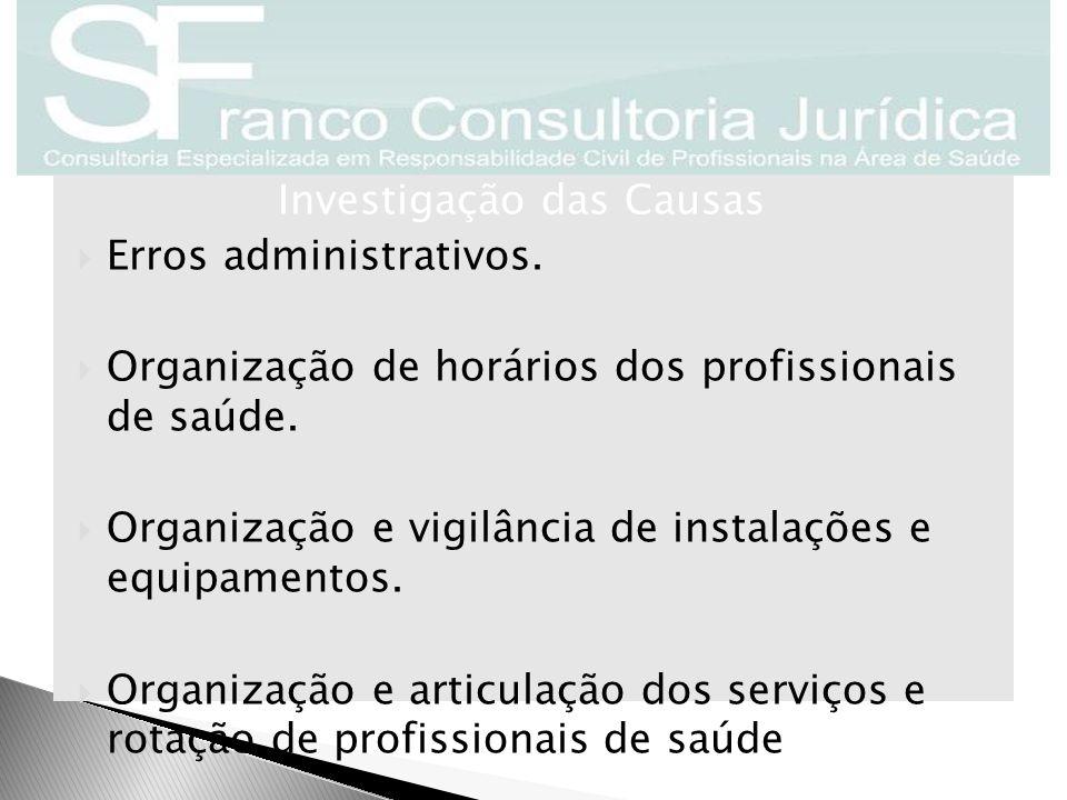 Erros administrativos.