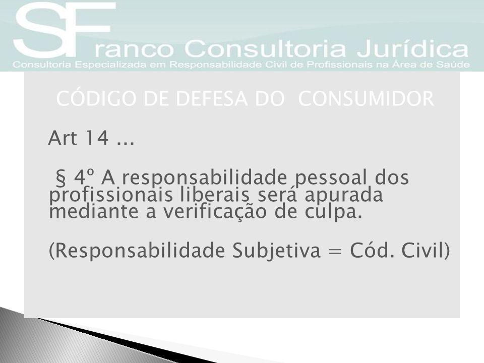CÓDIGO DE DEFESA DO CONSUMIDOR Art 14
