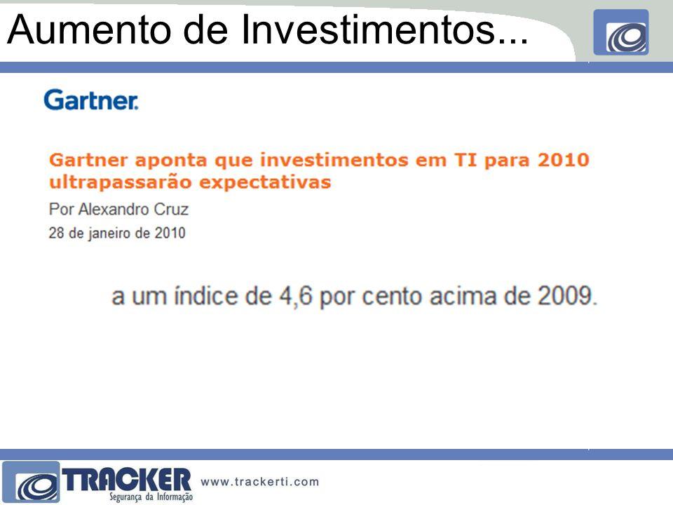 Aumento de Investimentos...