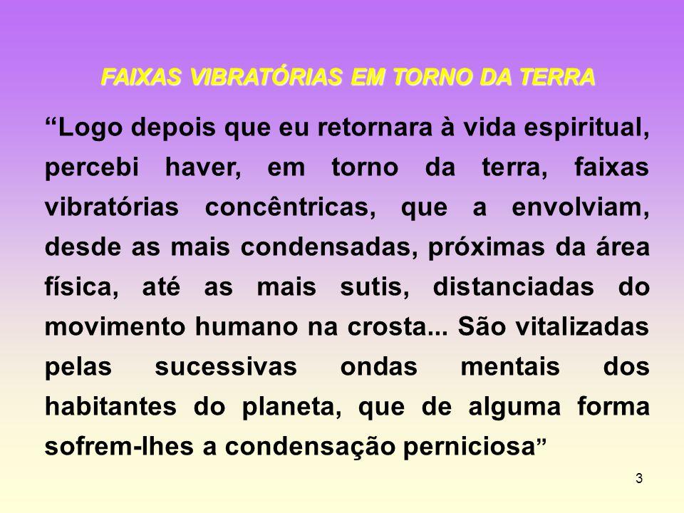 FAIXAS VIBRATÓRIAS EM TORNO DA TERRA