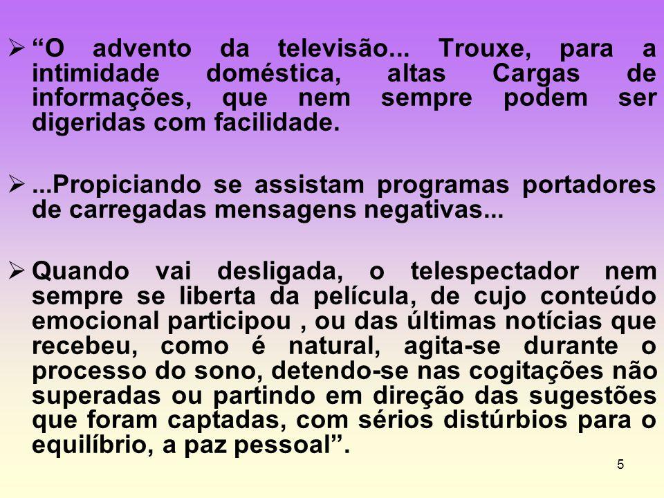 O advento da televisão