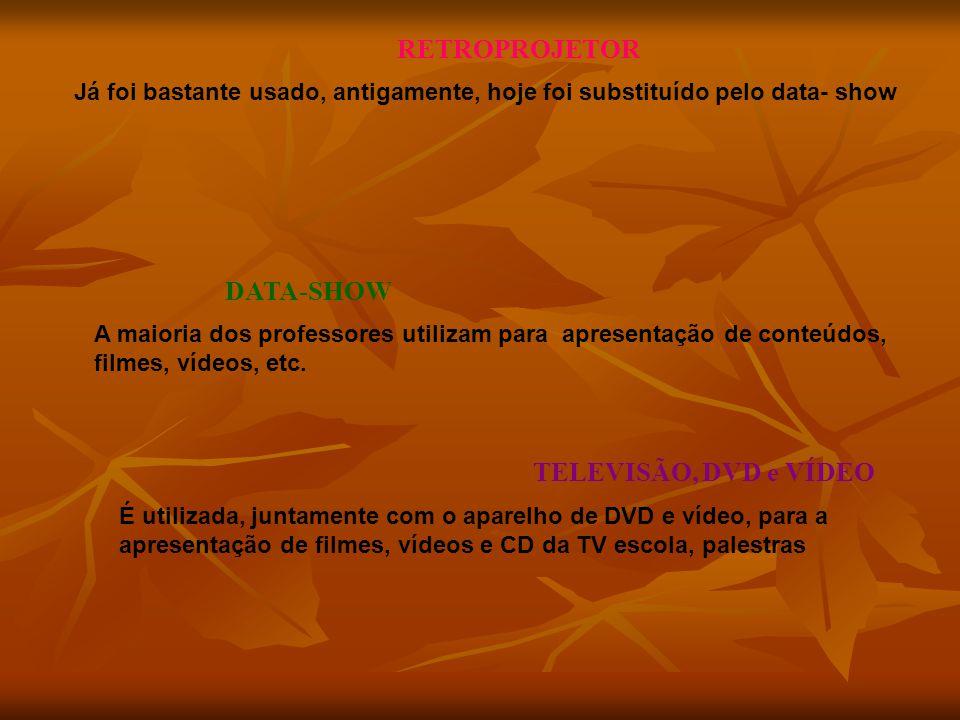 RETROPROJETOR DATA-SHOW TELEVISÃO, DVD e VÍDEO