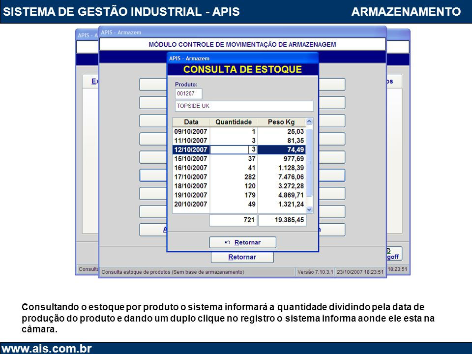 SISTEMA DE GESTÃO INDUSTRIAL - APIS ARMAZENAMENTO