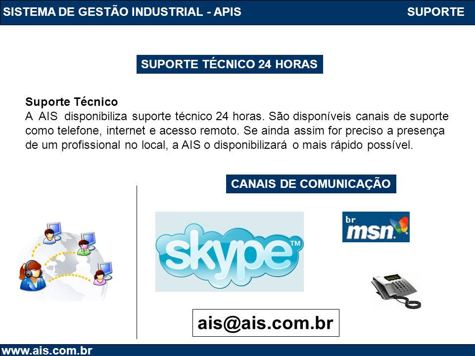 ais@ais.com.br SISTEMA DE GESTÃO INDUSTRIAL - APIS SUPORTE