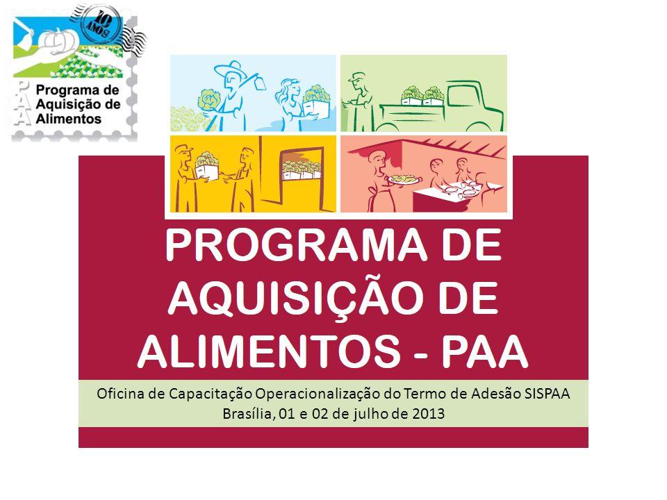 Oficina de Capacitação Operacionalização do Termo de Adesão SISPAA