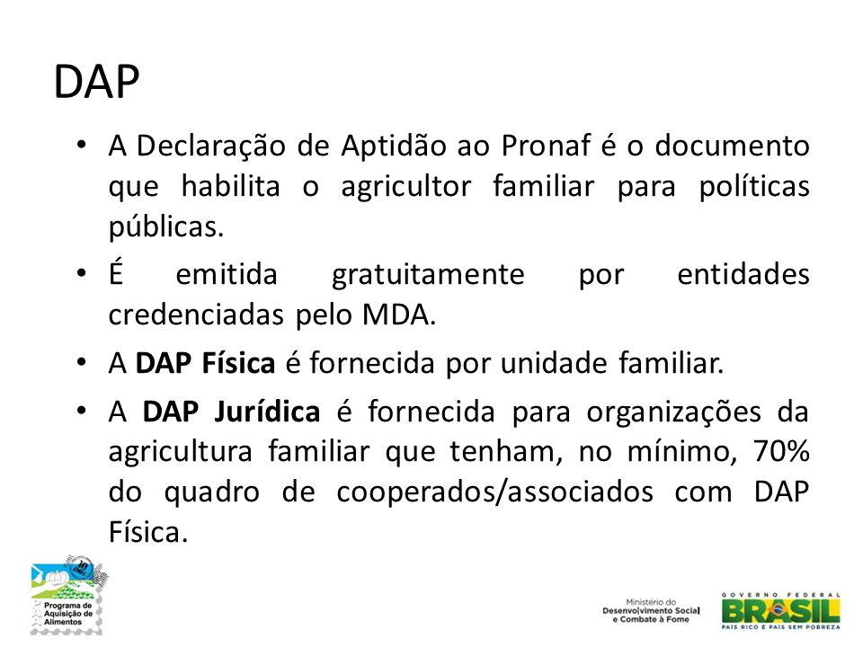 DAP A Declaração de Aptidão ao Pronaf é o documento que habilita o agricultor familiar para políticas públicas.