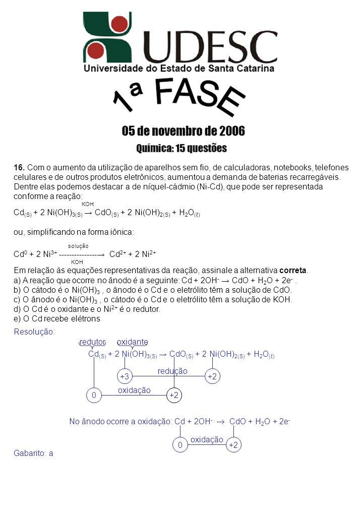 Cd(S) + 2 Ni(OH)3(S) → CdO(S) + 2 Ni(OH)2(S) + H2O(ℓ)