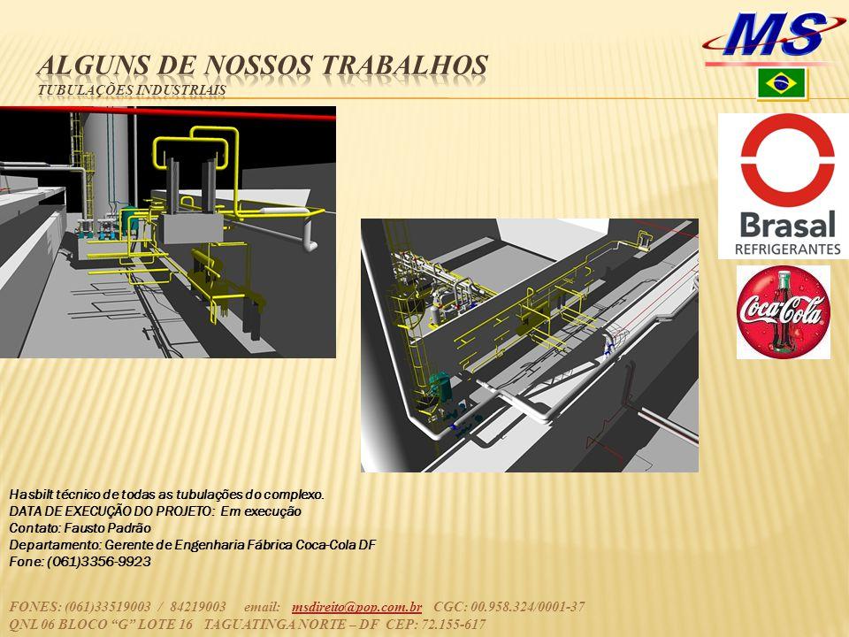Alguns de nossos trabalhos tubulações industriais