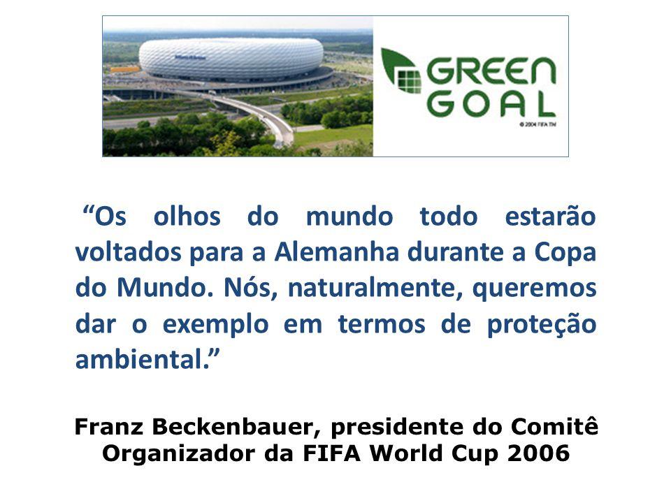Os olhos do mundo todo estarão voltados para a Alemanha durante a Copa do Mundo. Nós, naturalmente, queremos dar o exemplo em termos de proteção ambiental.