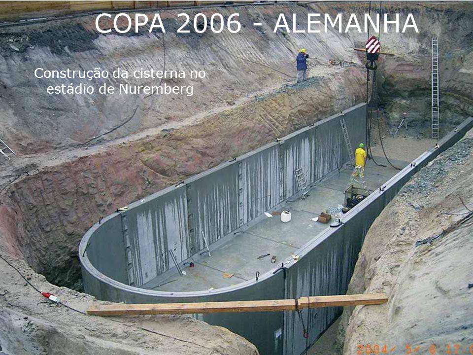 Construção da cisterna no estádio de Nuremberg