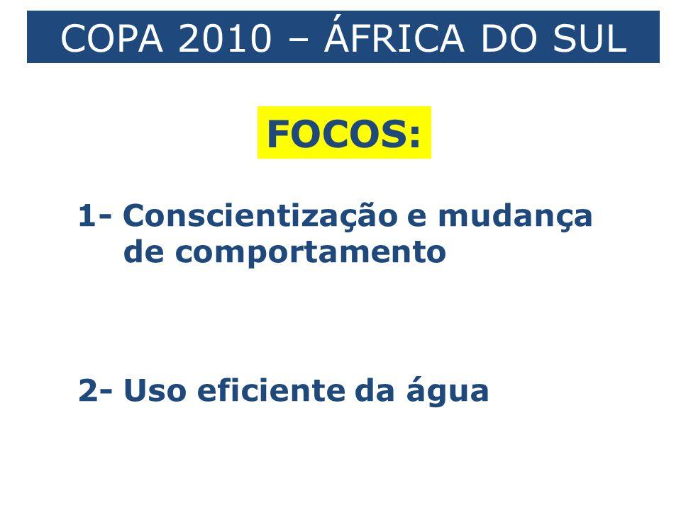 COPA 2010 – ÁFRICA DO SUL FOCOS: