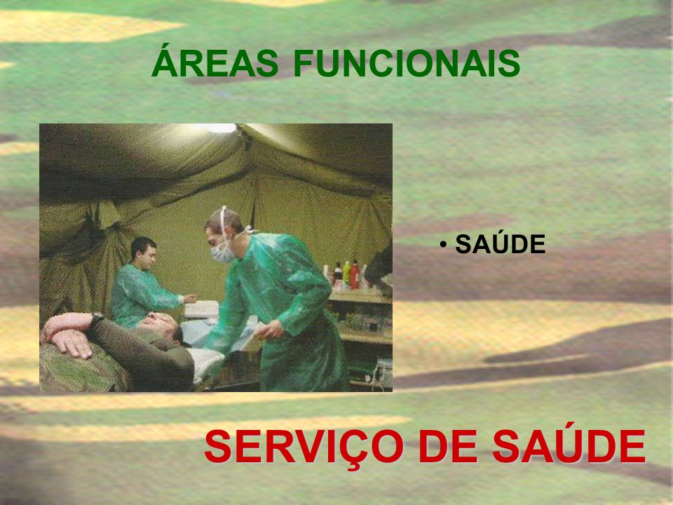 ÁREAS FUNCIONAIS SAÚDE SERVIÇO DE SAÚDE