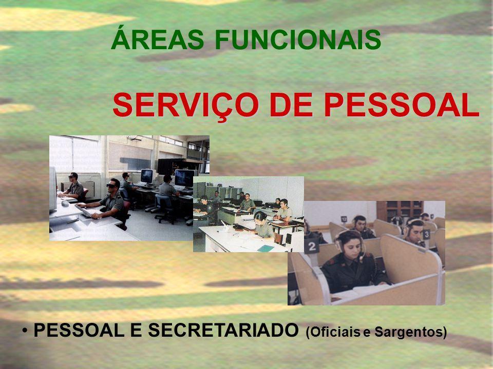 SERVIÇO DE PESSOAL ÁREAS FUNCIONAIS