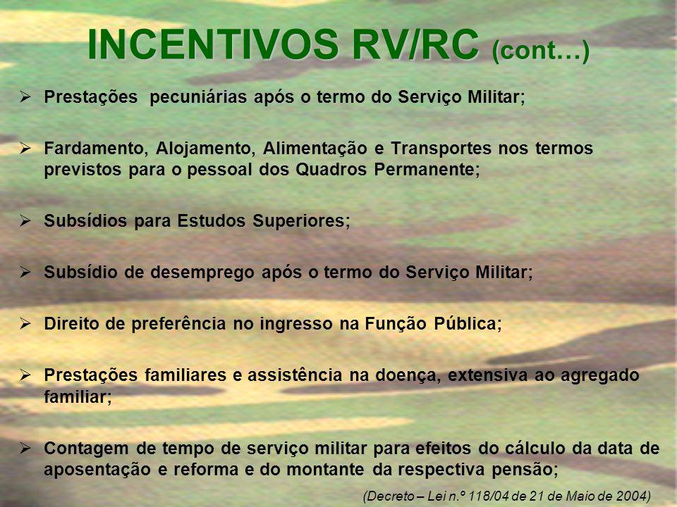 INCENTIVOS RV/RC (cont…)