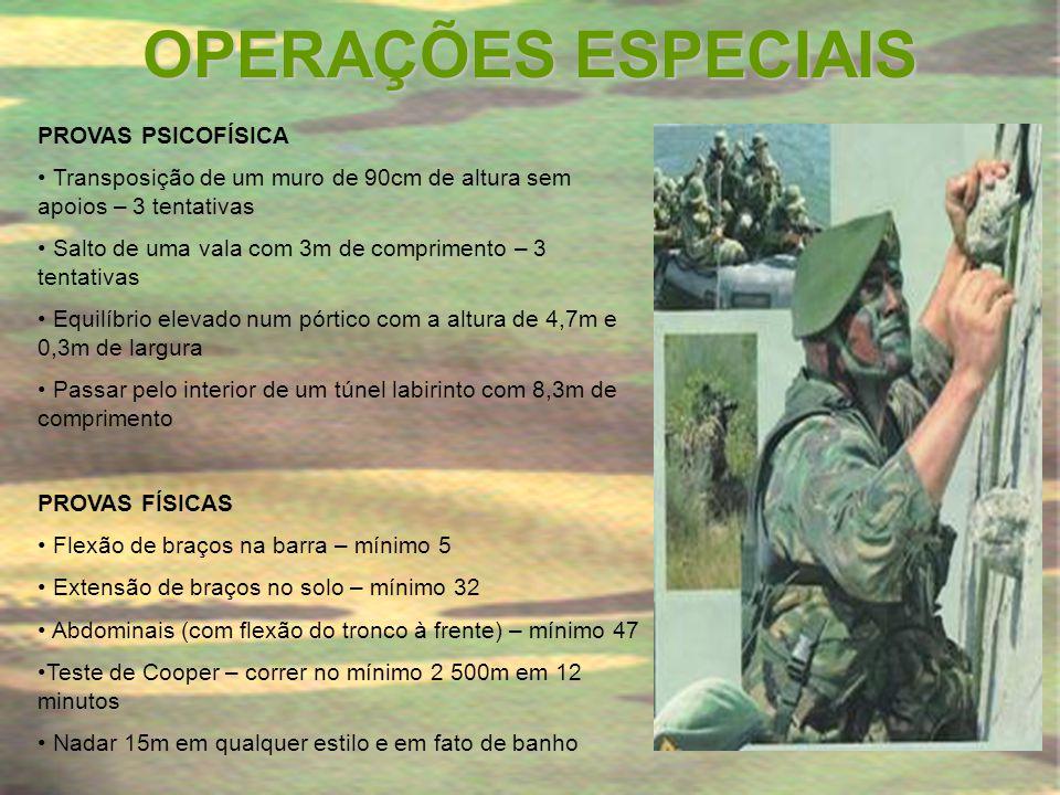 OPERAÇÕES ESPECIAIS PROVAS PSICOFÍSICA