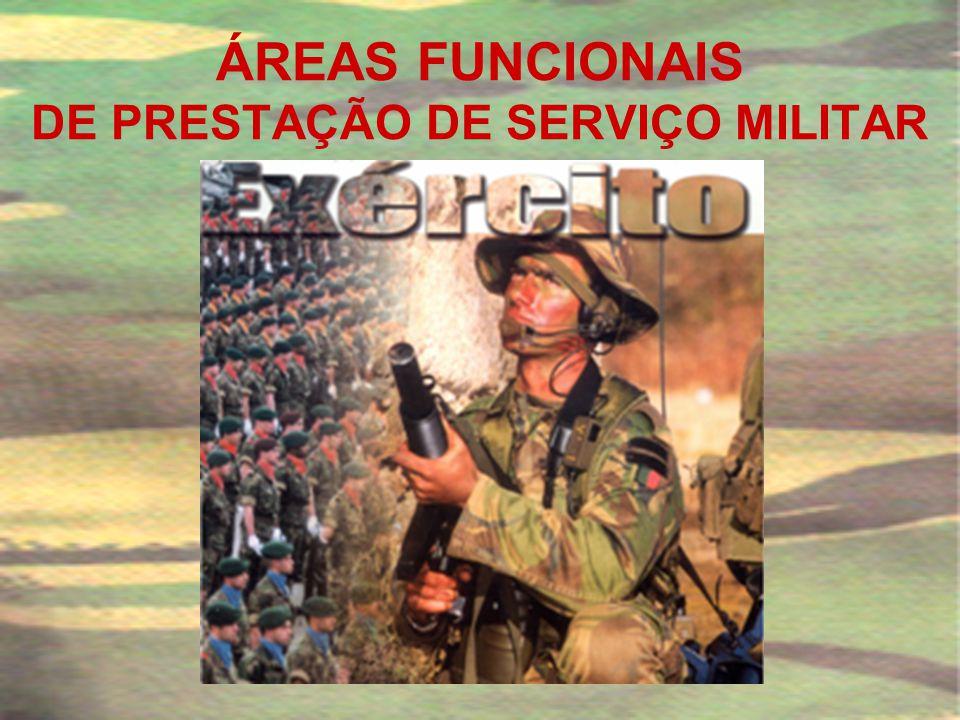 ÁREAS FUNCIONAIS DE PRESTAÇÃO DE SERVIÇO MILITAR