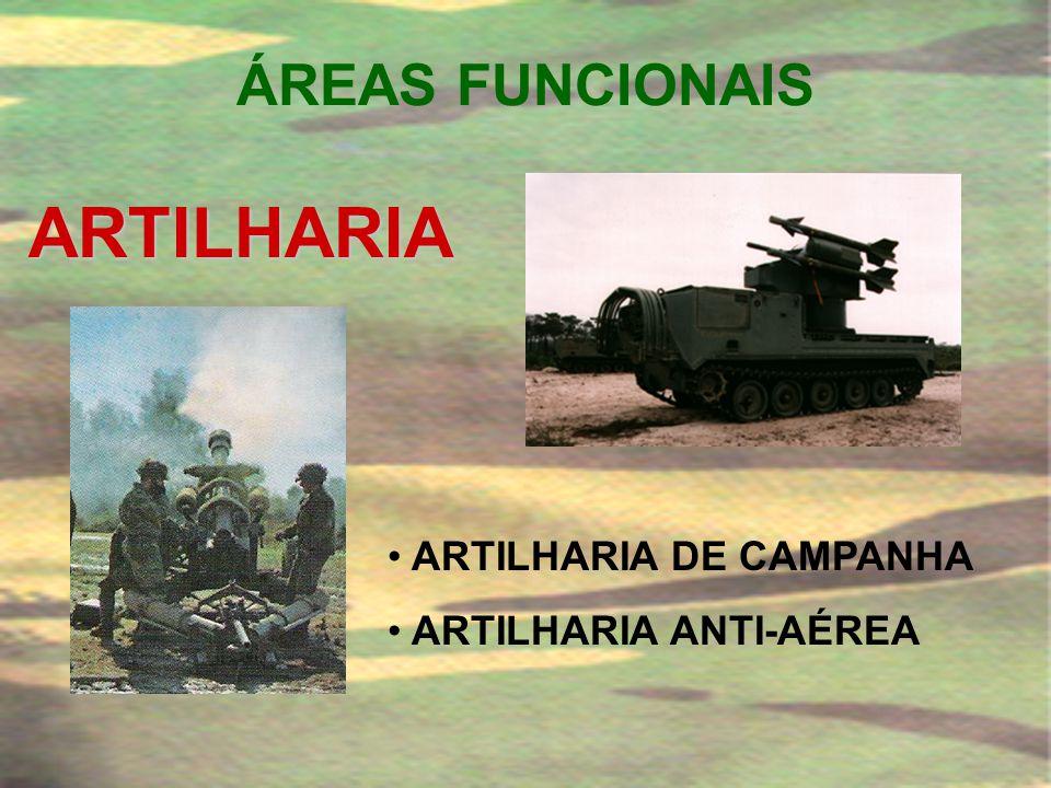 ARTILHARIA ÁREAS FUNCIONAIS ARTILHARIA DE CAMPANHA