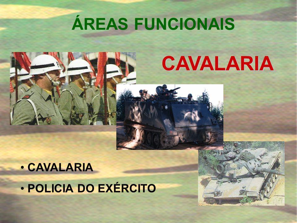 ÁREAS FUNCIONAIS CAVALARIA CAVALARIA POLICIA DO EXÉRCITO
