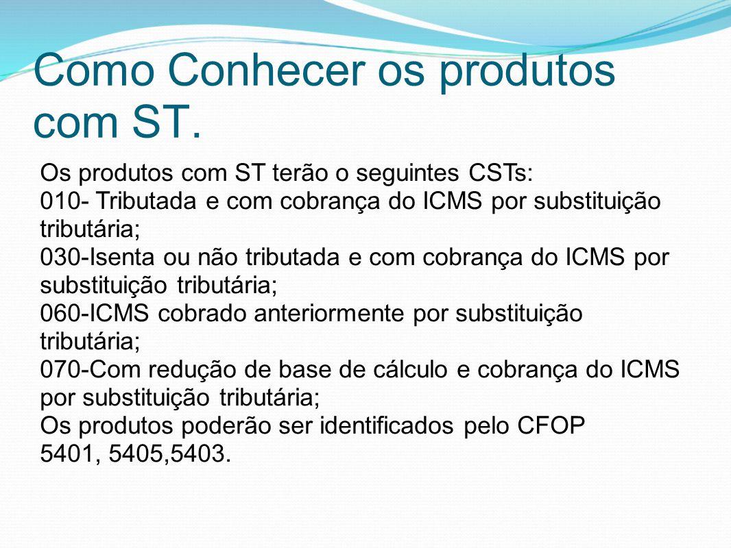 Como Conhecer os produtos com ST.