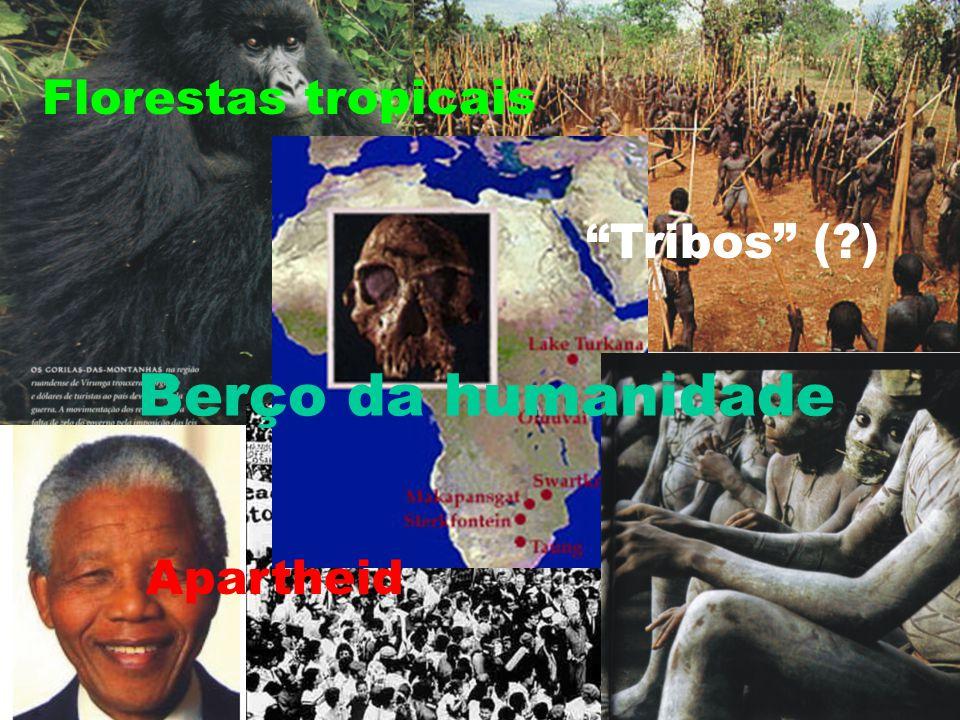Florestas tropicais Tribos ( ) Berço da humanidade Apartheid